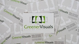 Hot off the Press! - New Greener Visuals Wedding Photography business cards