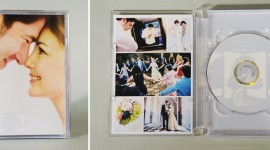 The completed package -  New DVD case design for Greener Visuals Wedding Photography