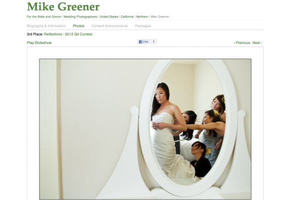 Greener Visuals Wedding Photography Awarded in Wedding Photojournalism Association Quarterly Photo Contest