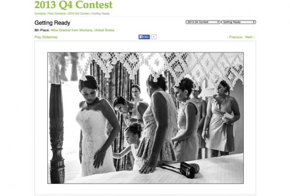 Greener Visuals Wins in Wedding Photojournalism Association 2013 National quarterly Photo Contest