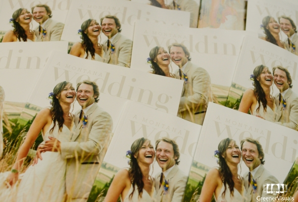 The new A Montana Wedding magazine features Greener Visuals Wedding Photography
