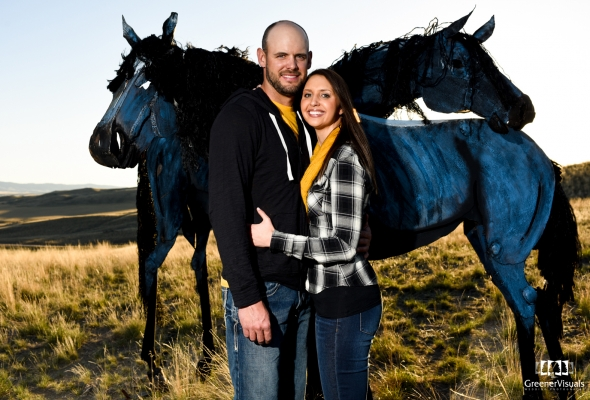 Manhattan Three Forks Montana Spring Engagement Photo Session – Kerry & Jarod