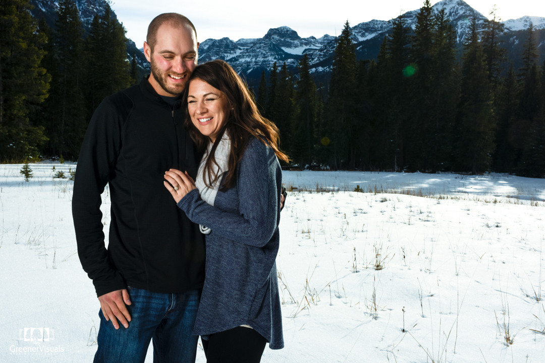 Hyalite Canyon Winter Engagement Photo Session of Heather & Andrew