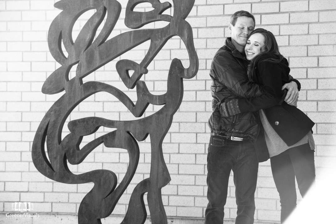 Downtown Bozeman Montana Engagement Photo Session of Kiera and Collin