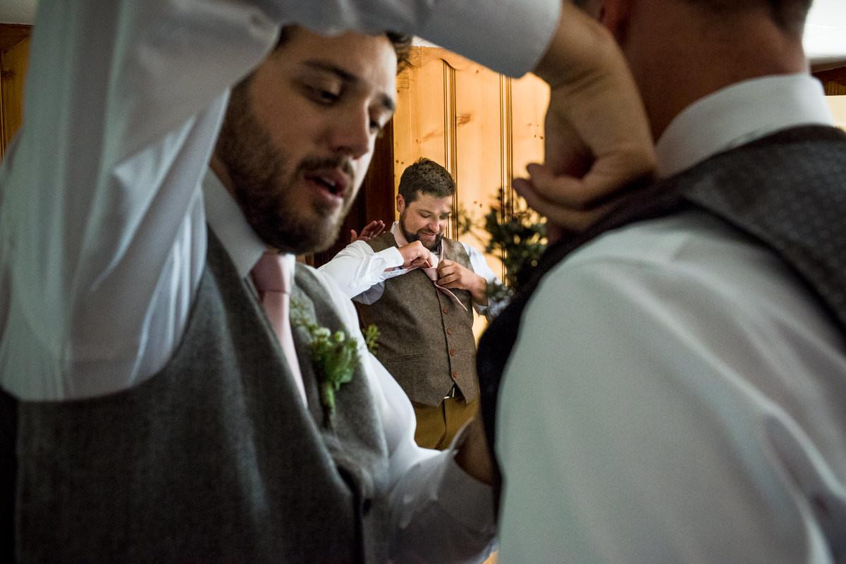 Virginia City Montana wedding day getting ready