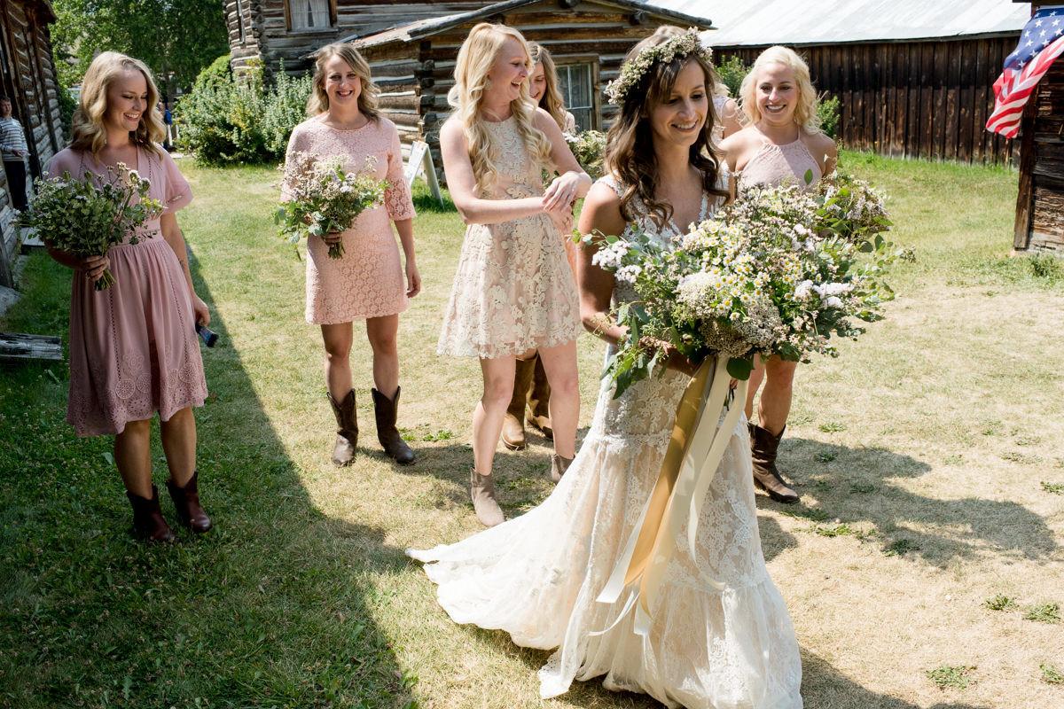 Virginia City Montana wedding day bride
