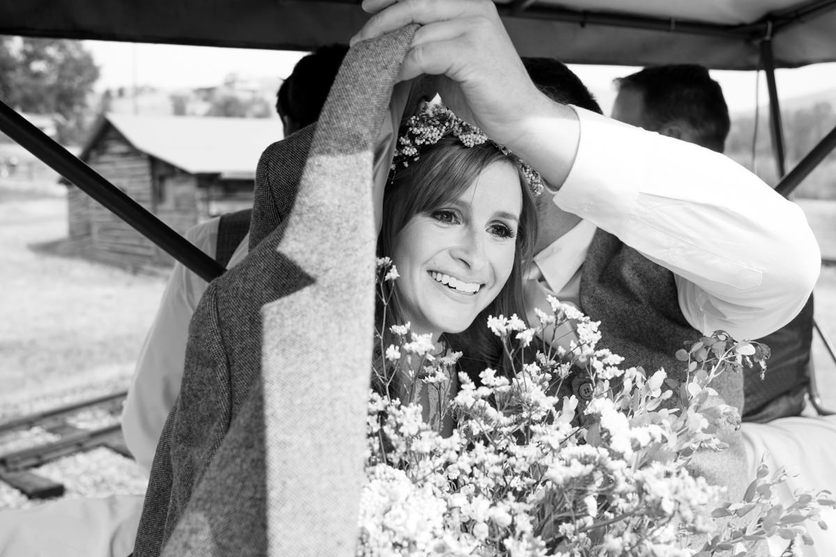 Virginia City Montana wedding day bride before ceremony