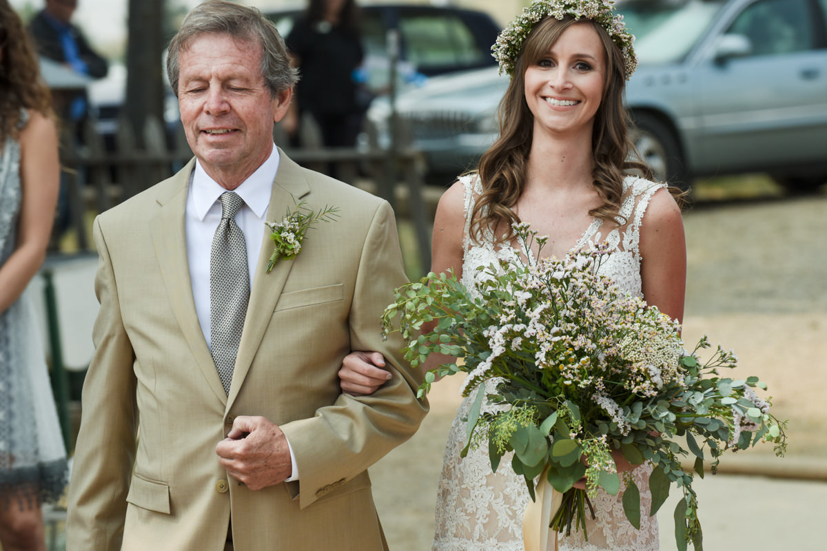 Virginia City Montana wedding day bride walk down isle