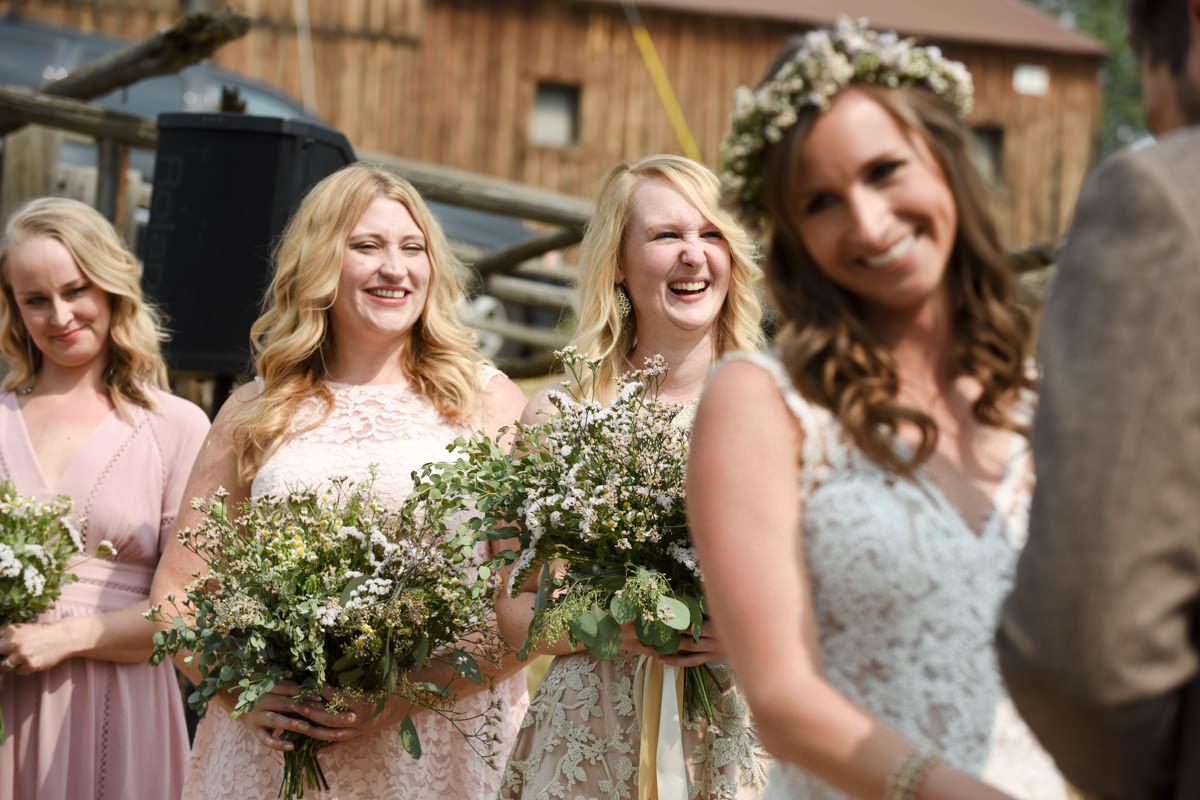 Virginia City Montana wedding day ceremony bride