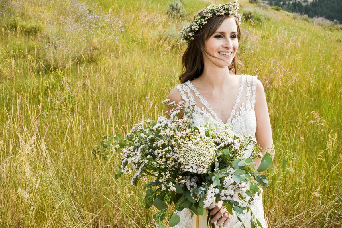 Virginia City Montana wedding day bride portrait