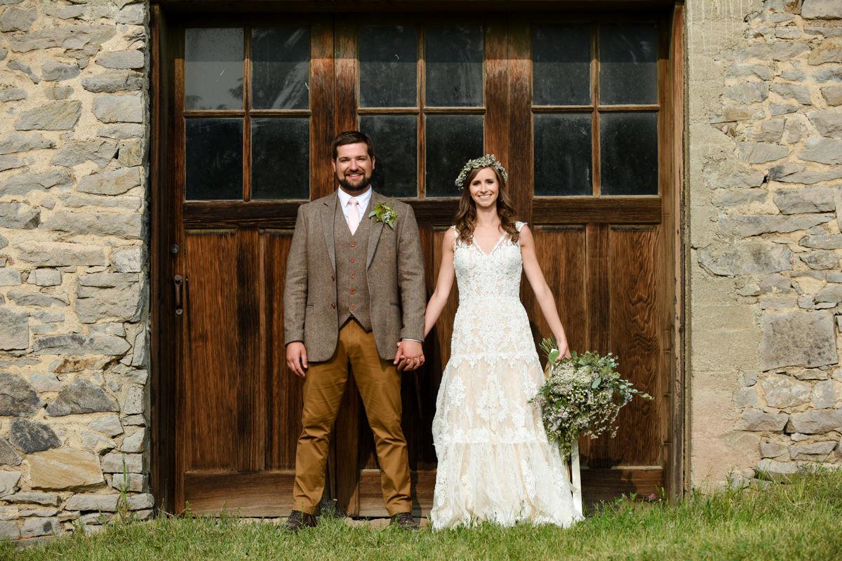 Virginia City Montana wedding day bride and groom