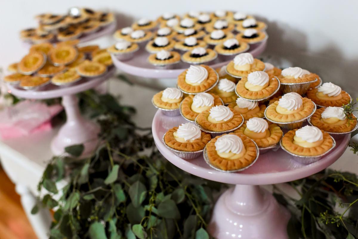 Virginia City Montana wedding day reception pies