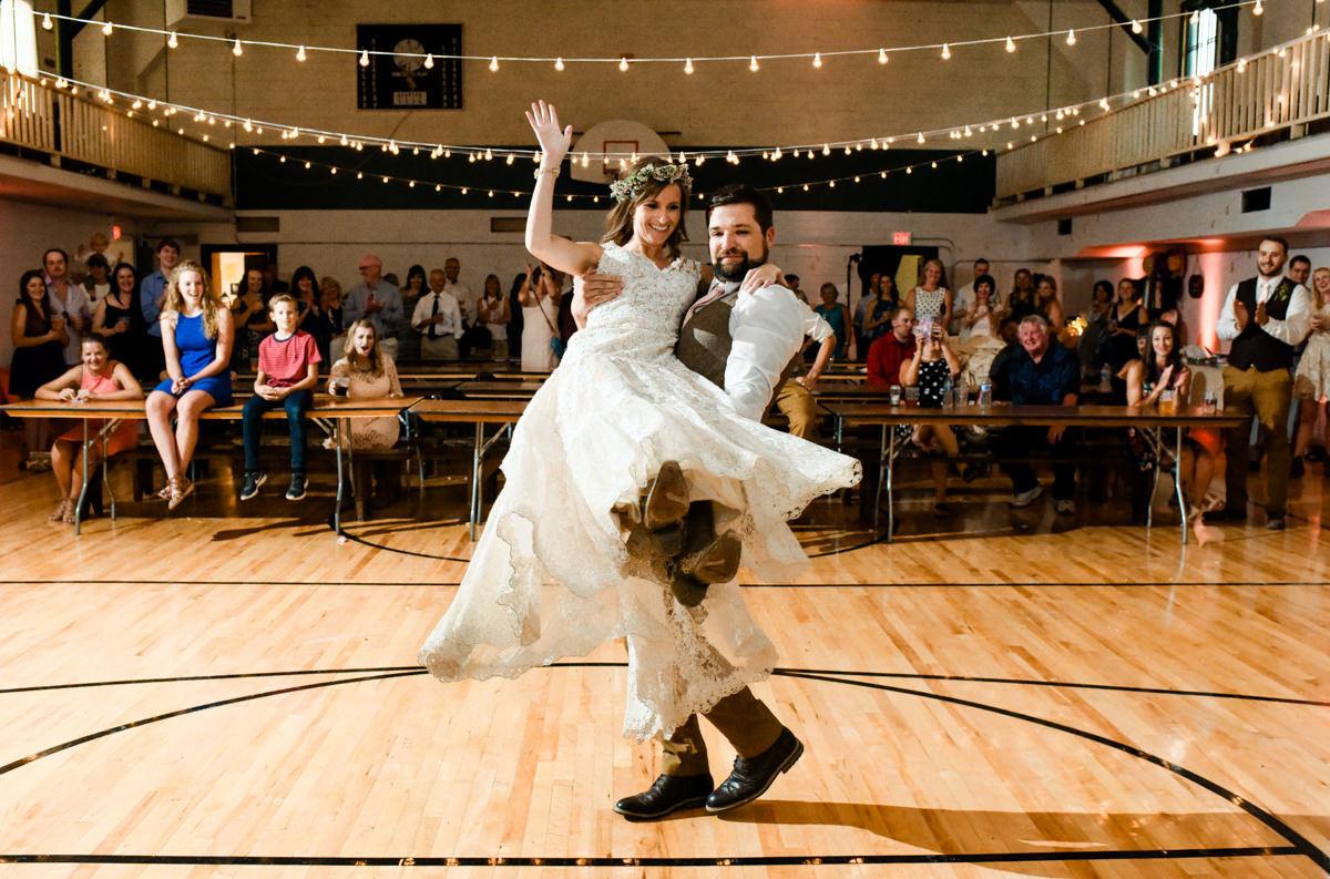Virginia City Montana wedding day first dance