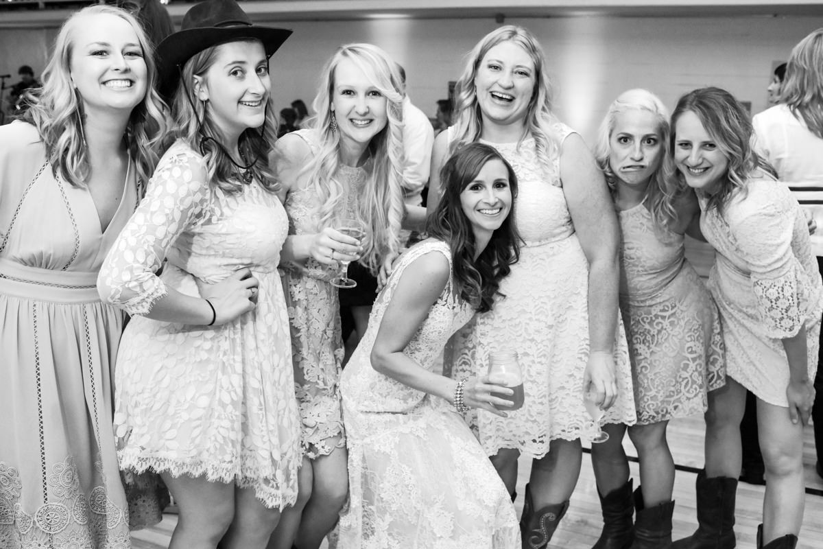 Virginia City Montana wedding day reception group portrait