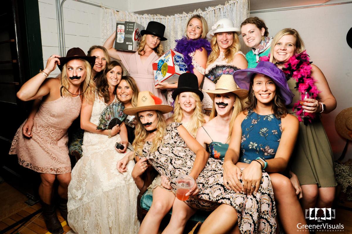 Virginia City Montana wedding reception photo booth
