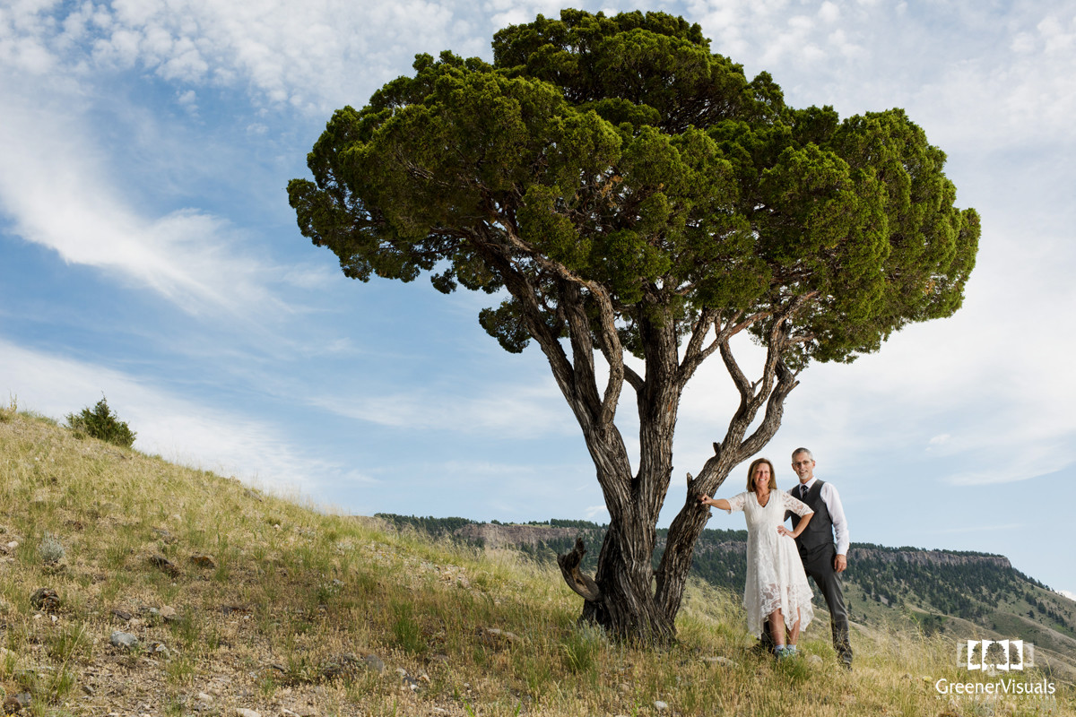 Yellowstone National Park Wedding Day landscape portrait