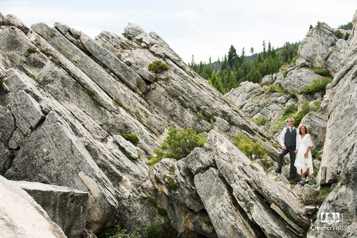 Yellowstone National Park Wedding Day landscape portrait