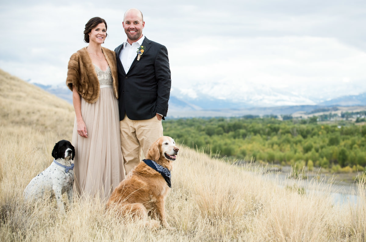 Paradise Valley Montana Wedding scenic bride groom