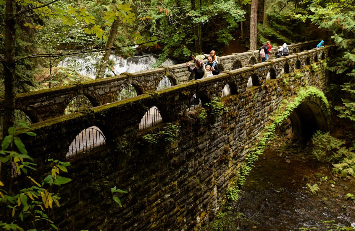 Bellingham Washington Family Portrait Forest Bridge