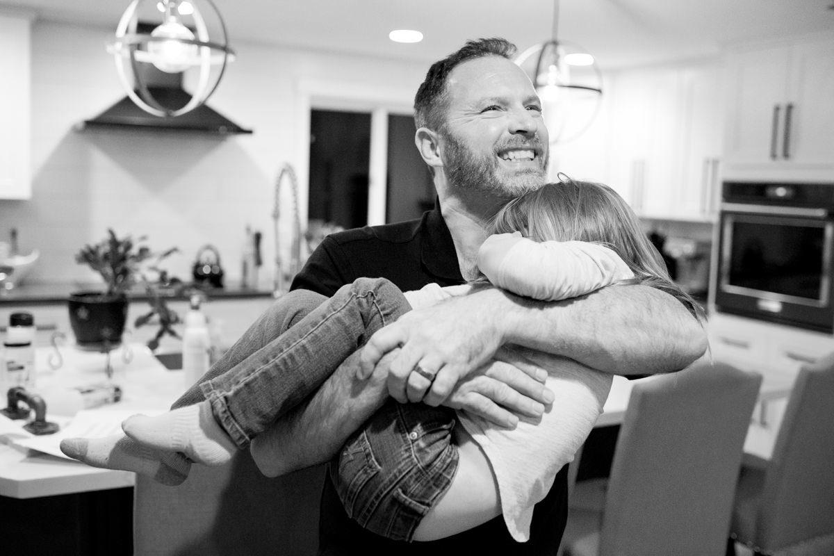 Bellingham Washington Family Portrait Dad Daughter Hug