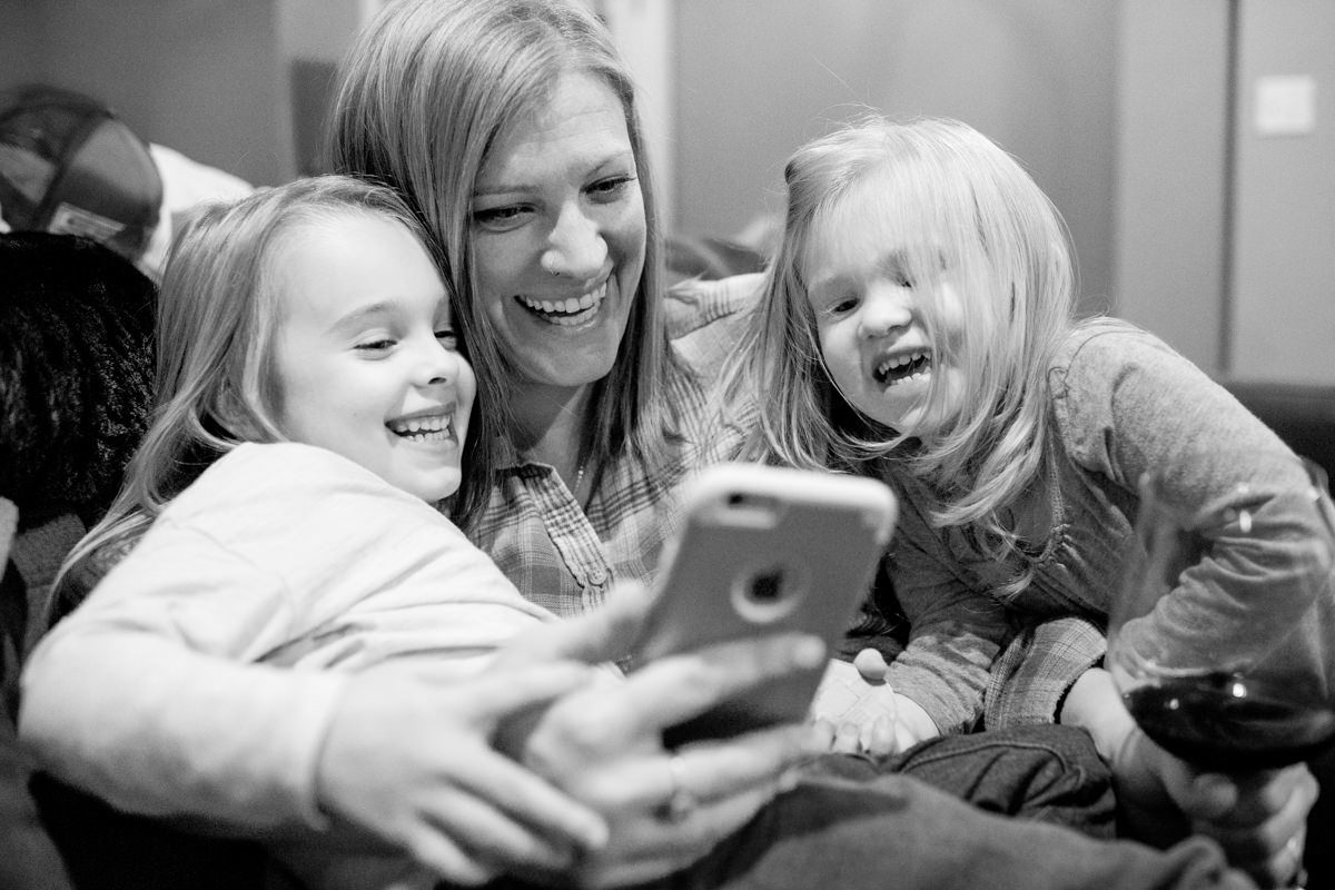 Bellingham Washington Family Portrait Laughing Daughters
