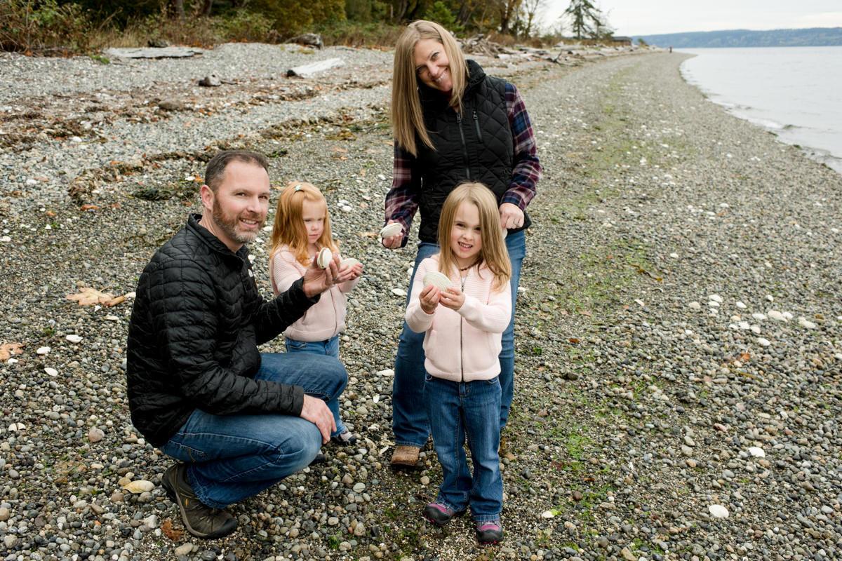 Bellingham Washington Family Portrait Beach