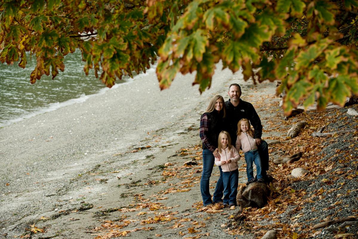 Bellingham Washington Family Portrait Tree Leaves