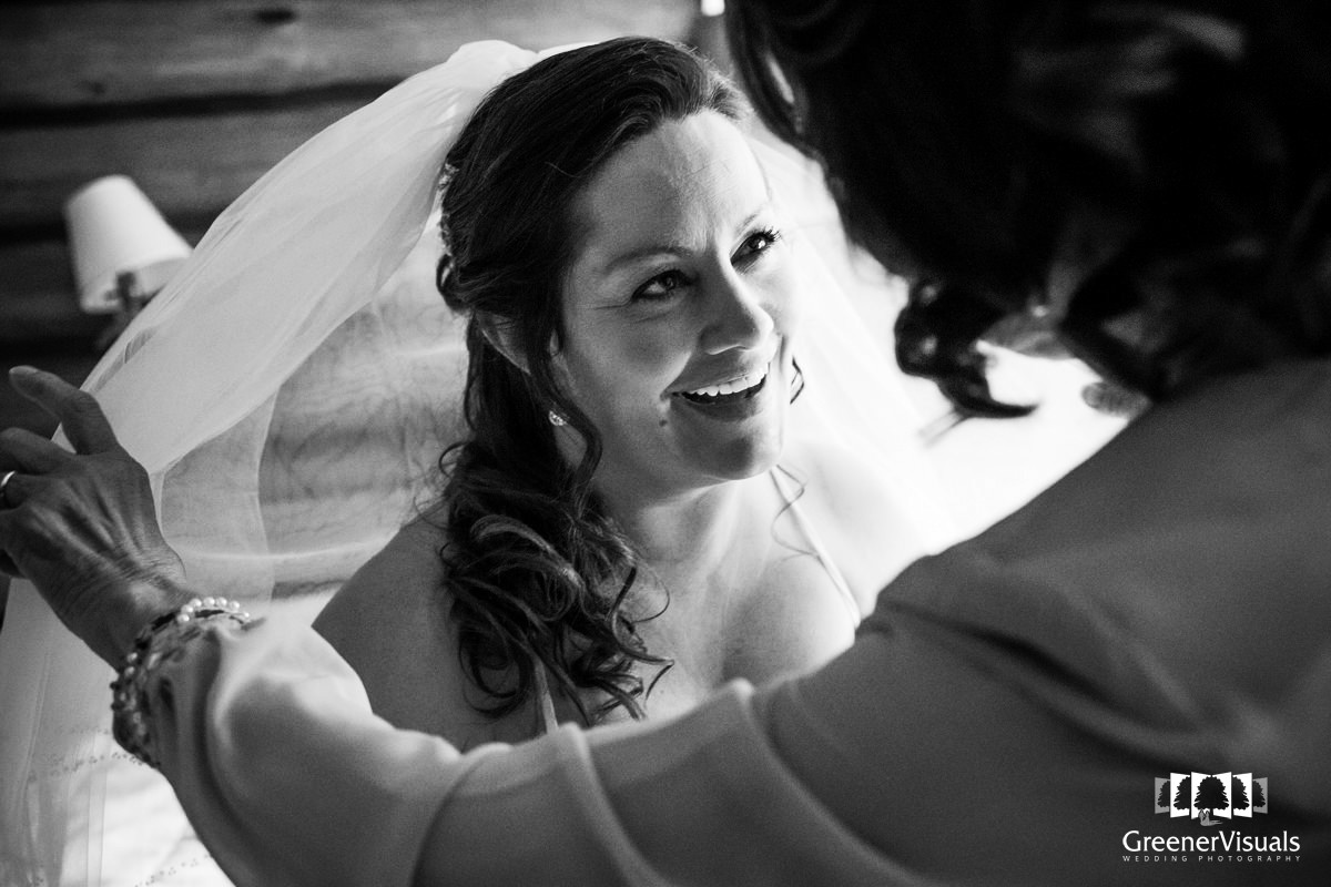 Ennis Montana Bride Getting ready smile