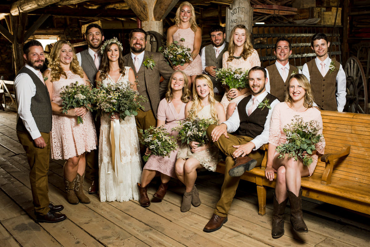 Virginia City Wedding Party Group portrait