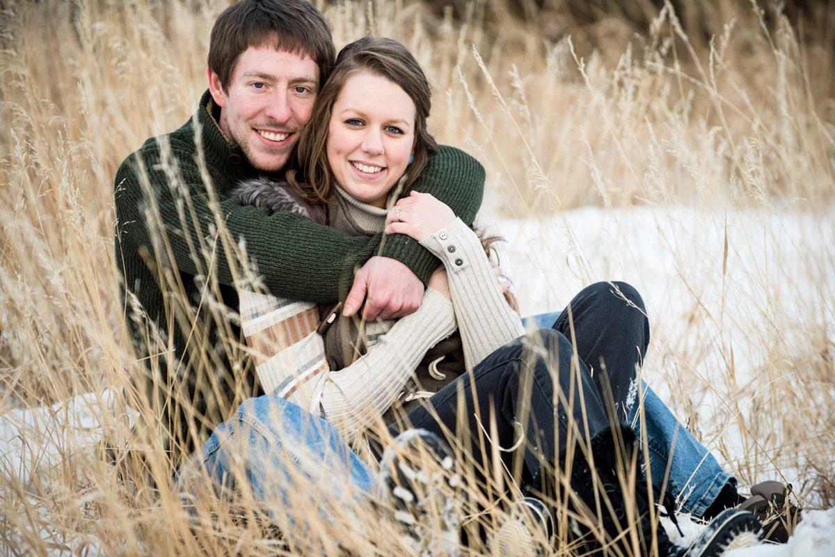 Madison River Mountains Couple Engagement Portrait Winter