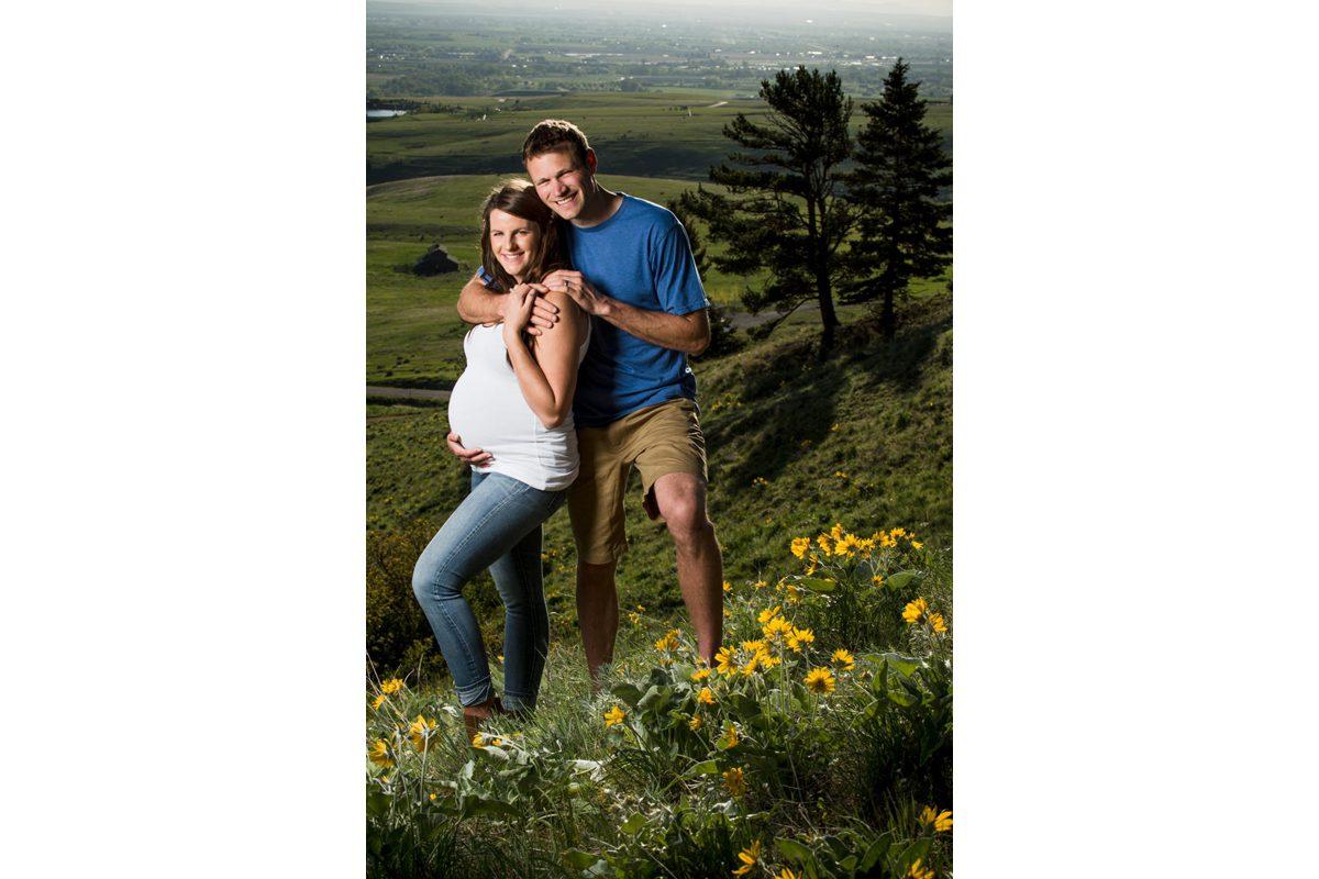 Maternity Couple Portrait Bozeman M Trail