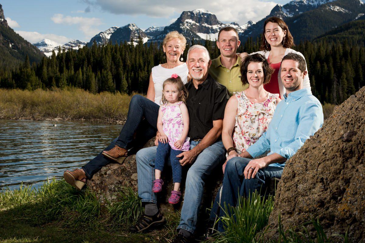 Hyalite Canyon Family Portrait Mountains Montana