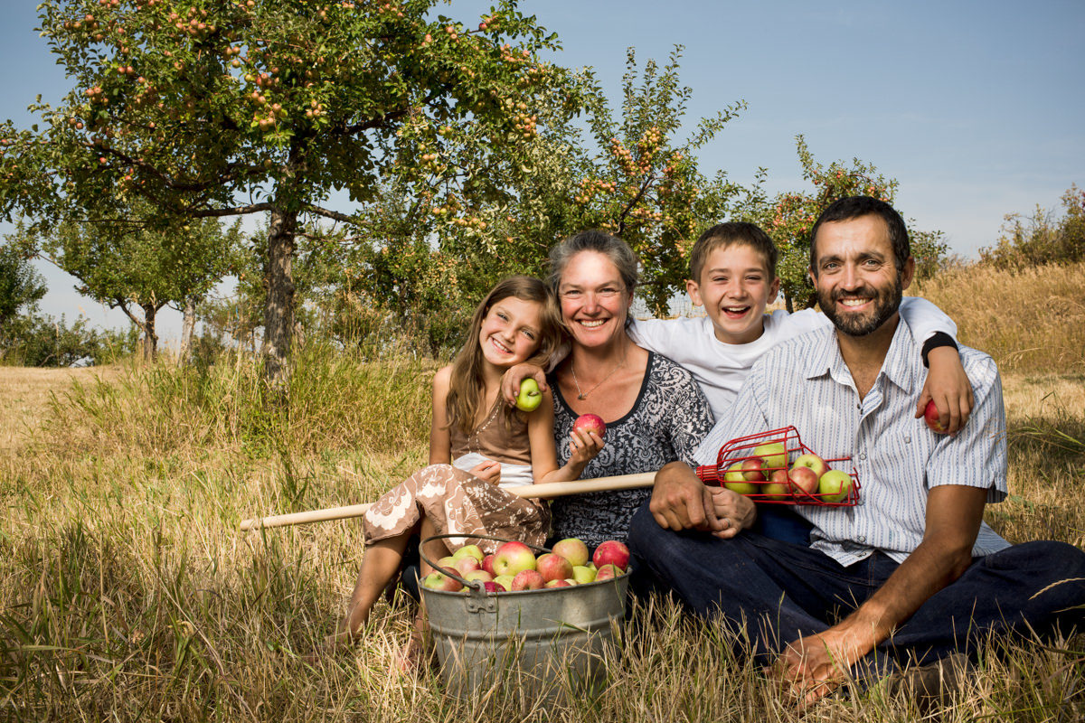 Rocky Creek Farm Family Portrait Farmers Kids